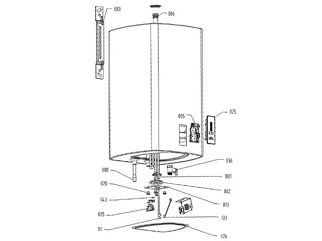 bimetallsicherung 72stc zu evenes warmwasserspeicher otgs30sm bis 100l. Black Bedroom Furniture Sets. Home Design Ideas