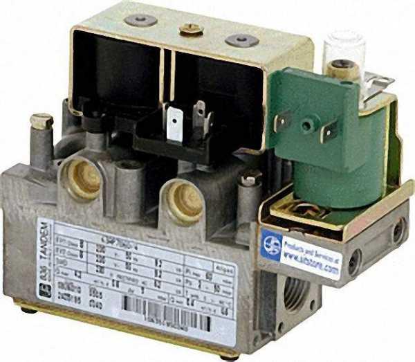 Gas-Kombiventil TANDEM 837 EV1/EV2 = 220/240 V - 50 Hz Referenz-Nr.: 0.837.013