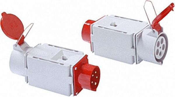 CEE-Adapter 16/32 Eing. :CEE-Stecker 16A Ausgang :CEE-Kupplung 32A