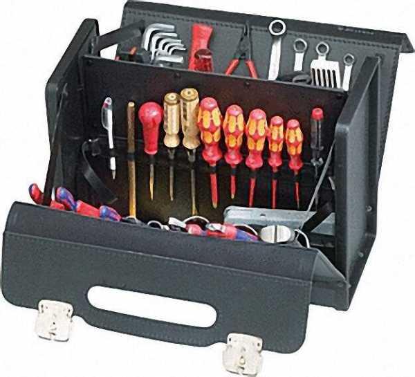 Werkzeugtasche CLASSIC mit Mittelwand 390x185x310mm 2460,000-401 schwarz