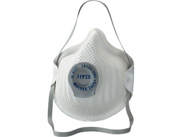 Atemschutzmaske FFP2 S Activ Form mit Klimaventil Classic VPE 20 Stück