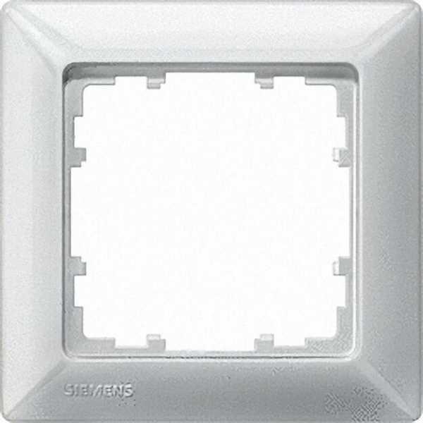 Rahmen 80-mm-Maß 1fach, 80mm x 80mm titanweiß / 1 Stück