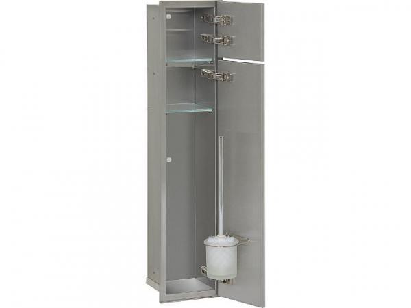 WC Wandcontainer Unterputz, 2 befliesbare Türen, 1 Papierrollenfach, 1 Leerfach, Anschlag rechts, BxH: 185x831 mm, Einbaucontainer Wandnisch