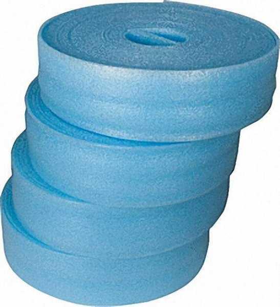 Randdämmstreifen mit Lasche, 150x8mm, VPE 100m 4 Rollen a 25 m, Farbe blau
