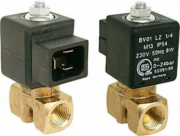 Rapa Ölmagnetventil BV 0.1 L 2 1/4''M13 230 V 50HZ 8W Wechselstrom