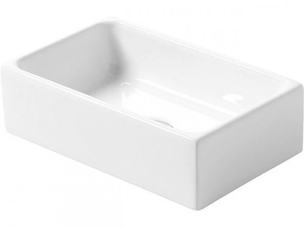 Aufsatz-Waschtisch Elinam ohne Hahnloch, 410x250x120mm, Keramik weiß