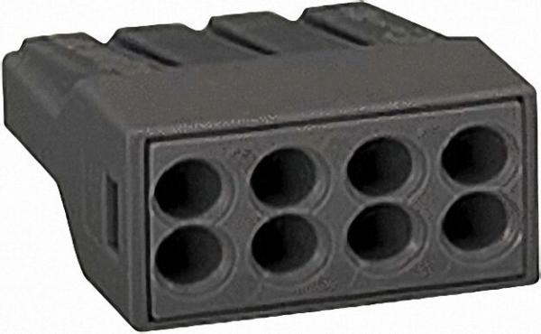 Verbindungsdosenklemmen 273 8-Leiter-Klemmen, dunkelgrau 8x1-2,5mm², VPE=50