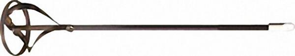 Rondenrührer 100mm gelb chromatisiert mit Ring