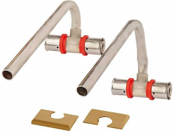 SIMPLEX Press- Sockelleistenanschluss VK31 vernickelt Presskontur U, TH, F und H 20x2,0 mm
