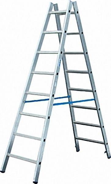 Sprossen-Doppel-Leiter Arbeitshöhe 3,80 Leiterhöhe 2,20 2x8 Sprossen