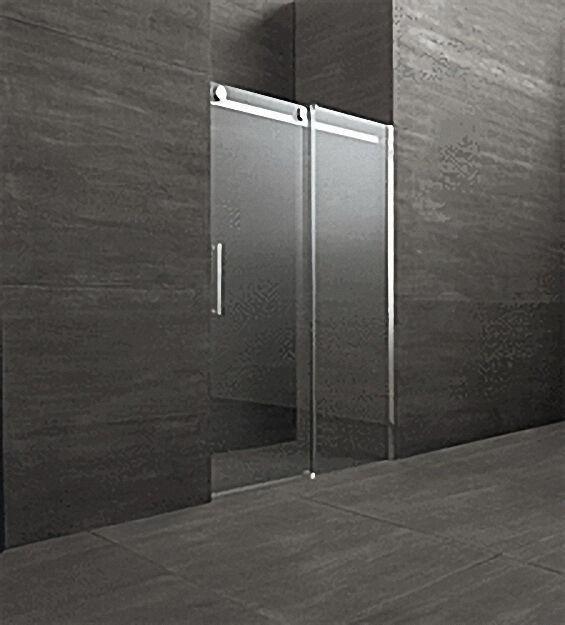 Schiebetür für Nische mit Fixteil,Tür links Fixteil rechts, Sicherheit