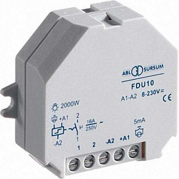 Reiheneinbaugerät Fernschalter-Doseneinbaugerät 16A/250V - 8-230V UC