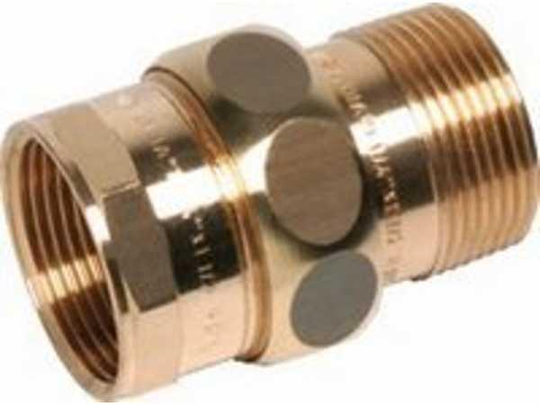 Verschraubung konisch Rotguss, Nr.3341, IG/AG 1 1/4 Kupferrohre Schraubfittings