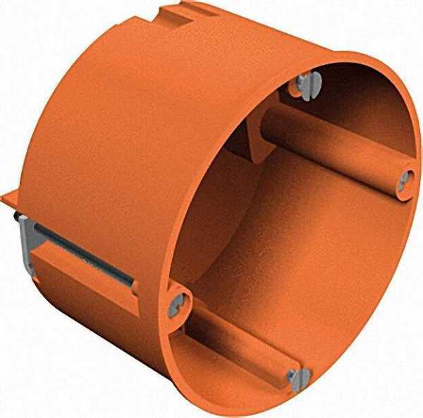Hohlwand-Gerätedose Höhe 47mm, D=68mm Typ HG 60, orange / 1 Stück