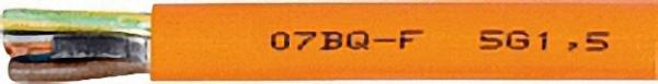 Isolierte Starkstromleitung XO7BQ-F - 7G Rolle a 50m