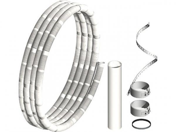 Kunststoff-Abgassystem Rohr flexibel, Basisset 12,5m DN 110