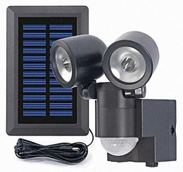 aussenleuchte solar led mit bewegungsmelder 360 duo lpl schwarz. Black Bedroom Furniture Sets. Home Design Ideas