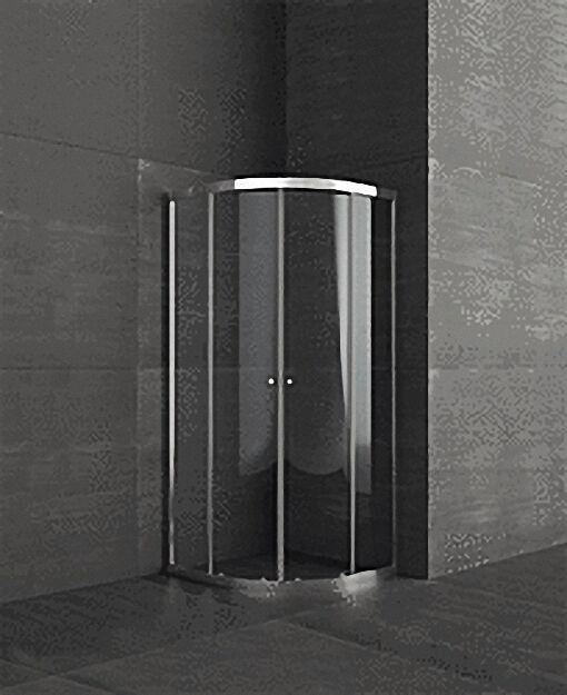 14 kreis duschkabine echtglas sicherheits glas 4mm 2 schiebetren - Dusche Schiebetur Dreiteilig