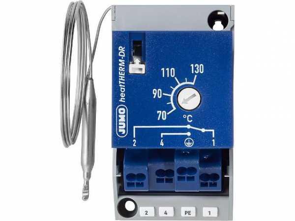 Jumo 60003287 Thermostat (STB) für Hutschienenmontage TH35 Typ 603070/0070, 70. . 130°C