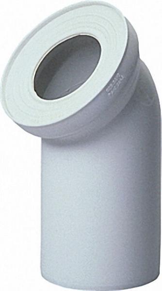 WC-Anschluss-Stück DN100 45° weiß