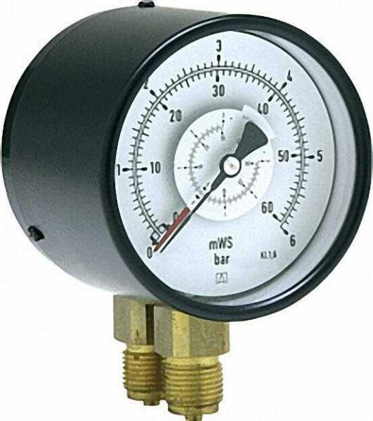 Differenzdruck Manometer, 0-6 bar, 100 mm für G1/2
