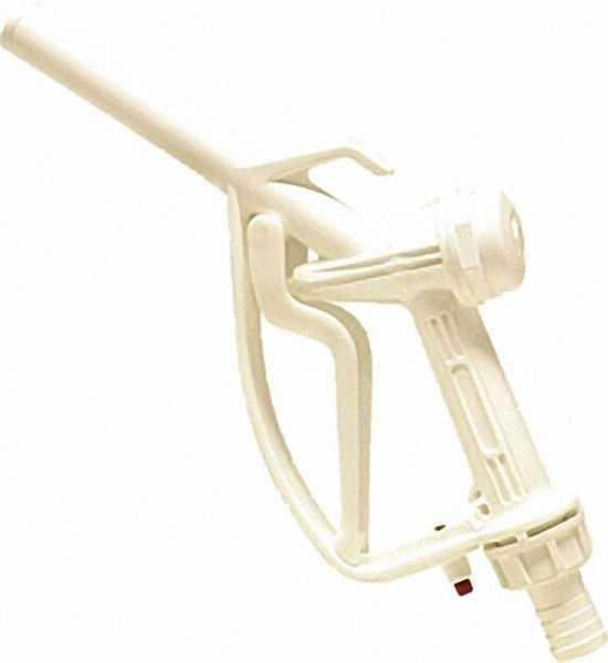 Kunststoff Zapfpistole mit Schlauchtülle 25mm max 80l/min