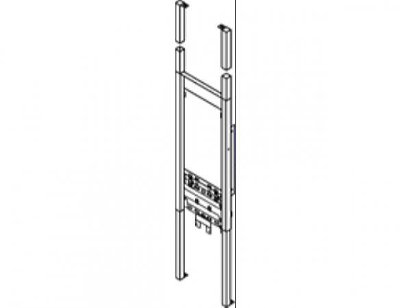 VIESSMANN Z002352 Vorwand-Montagerahmen für Kombigerät (Bautiefe 110 mm) (Vitopend 200-W)