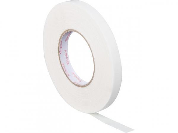 Gewebeklebeband, kunststoffgeschützt weiß, Breite15 mm Länge 50 m