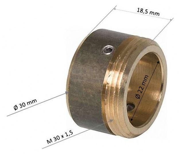 Adapter messing für Danfoss-Ventile RA