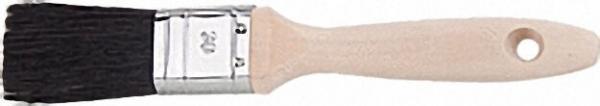 Pr. -Flachpinsel 50mm Cirex schwarz, Buchenstiel, Weißblechzwinge, 12. Stärke