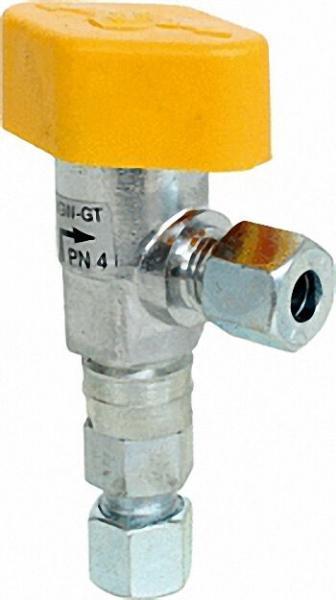 Schnellschlusseckventil mit TAE Eingang 12mm Ausgang 12mm Eckform