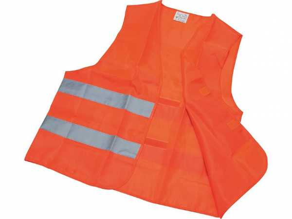 Warnweste EN 471 100% Polyester 2 Reflektorstreifen rot-orange