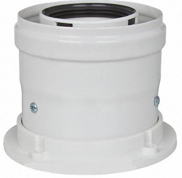 Abgas-Kesselanschlussstück 60/100 für raumluftunabhängigen Betrieb