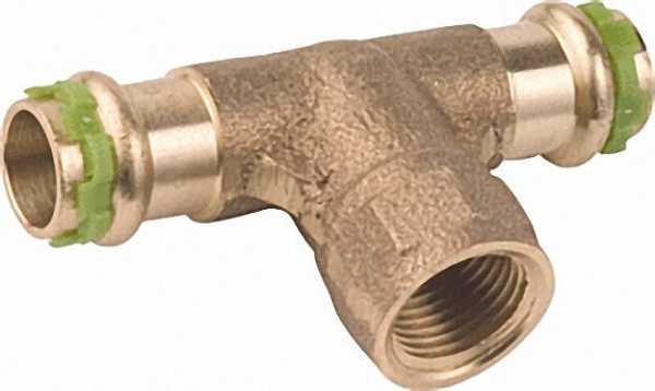 Rotguß Pressfitting T-Stück mit IG 22x3/4x22 P 4130 G
