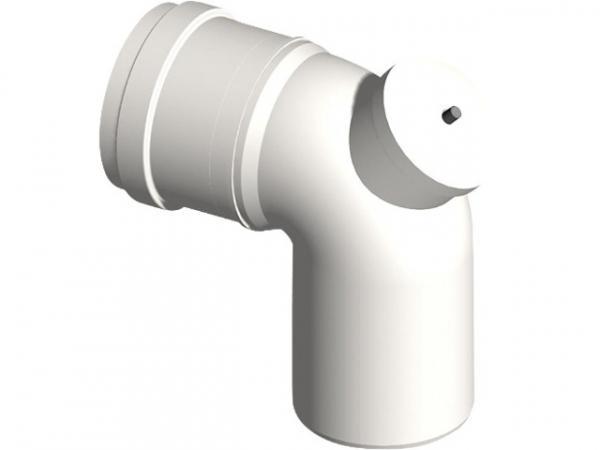 Kunststoff-Abgassystem Bogen 87° mit Prüföffnung DN 110
