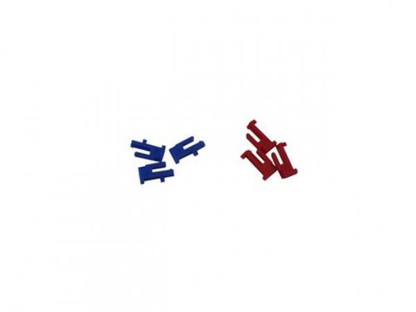 WOLF 2745204 Schaltreiter3 Stück Blau + 3 Stück Rot, Theben(ersetzt Art.-Nr. 2744069, 2744070)
