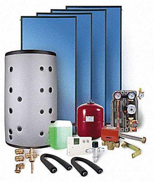 Solaranlage mit Brauchwasser und Heizungsunterstützung 15,06m² Bruttok
