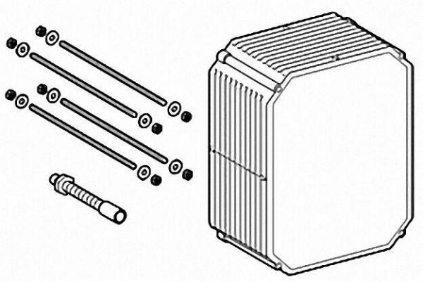 GROHE Verlängerungsset 50mm, für Rapido U oder Rapido UMB, Schachtverlängerung mit Befestigung