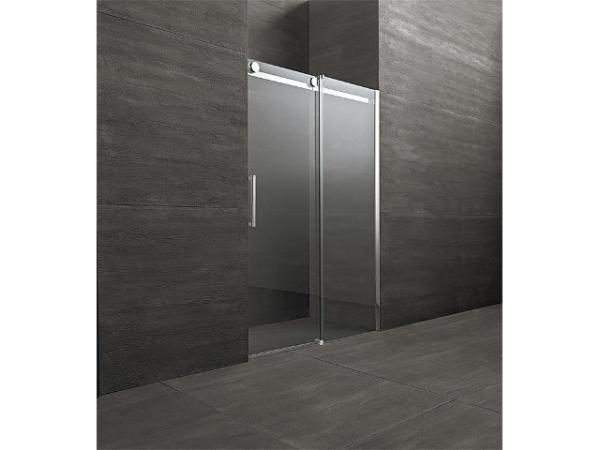 Schiebetür für Nische mit Fixteil,Tür links Fixteil rechts, Sicherheits-Glas 8mm, 1000x2000mm, Einstieg 370mm