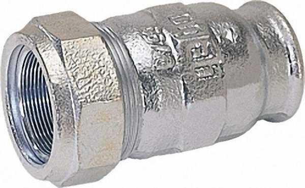 GEBO Temperguss-Klemmverbinder mit IG Gas PN 4, Wasser PN 16, Typ I 1 1/2'' (48,3)