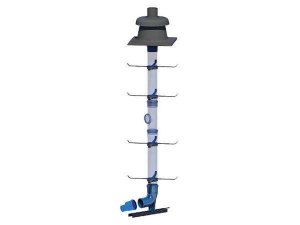 CondensBlue Basisset 4 Schacht starr, mit Aufweitung DN 60 auf DN 80