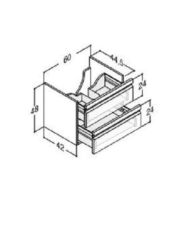 DANSANI Waschtischunterbau mit Schubladen 60 cm