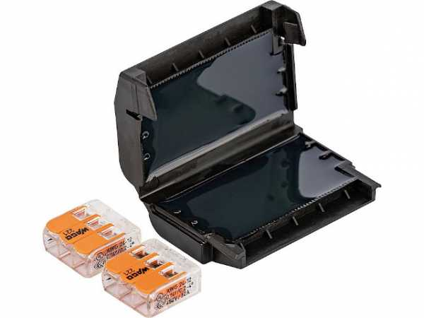 Gel Verbindungsmuffe, 1 Stück, Easy-Protect 323, 6x0,2-4mm², 2x Wago 221-413