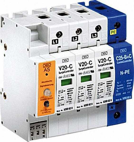 OBO Überspannungsableiter V 20-C/3+NPE+AS 280 V, 3+NPE, 1 Stück