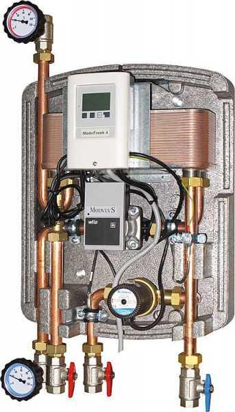 Frischwasserstation Easyflow Fresh 4,elektronisch geregelt, mit Zirkulationspumpe