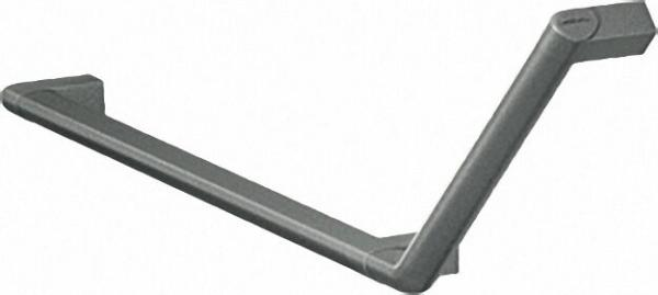 Winkelgriff Serie Cavere aus Alu., Anthrazit-Metallic 95, 650x316mm, 135°, rechte Ausführung