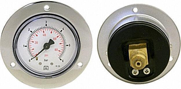 Manometer in Stahlblechgehäuse, 0-10 bar, 50mm für G1/4
