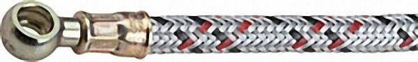 Ölschlauch einerseits 3/8'' Überwurfür mutter, anderseits 12mm Ring 1000 lg. Elektro-Oil, Körting T