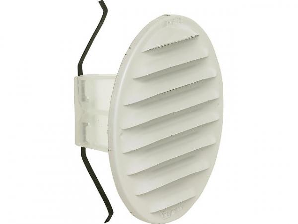 HELIOS Lüftungsgitter rund, Metall LGR 100, weiß lackiert, 130 mm, 100-125 mm