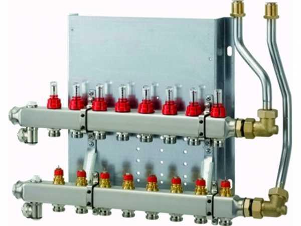 WOLF Heizkreisverteiler manuell CUC-B 2 Heizkreise, mit Durchflussmesser